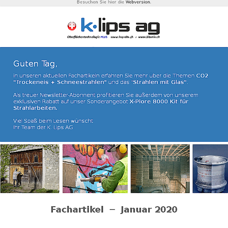 K. Lips AG - Fachartikel Strahltechnik