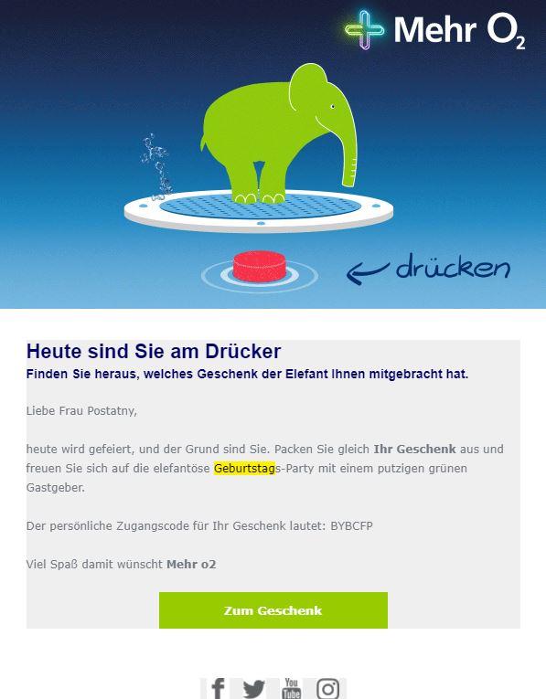 Marketing Automation Workflow Beispiel Geburtstags-Mailing