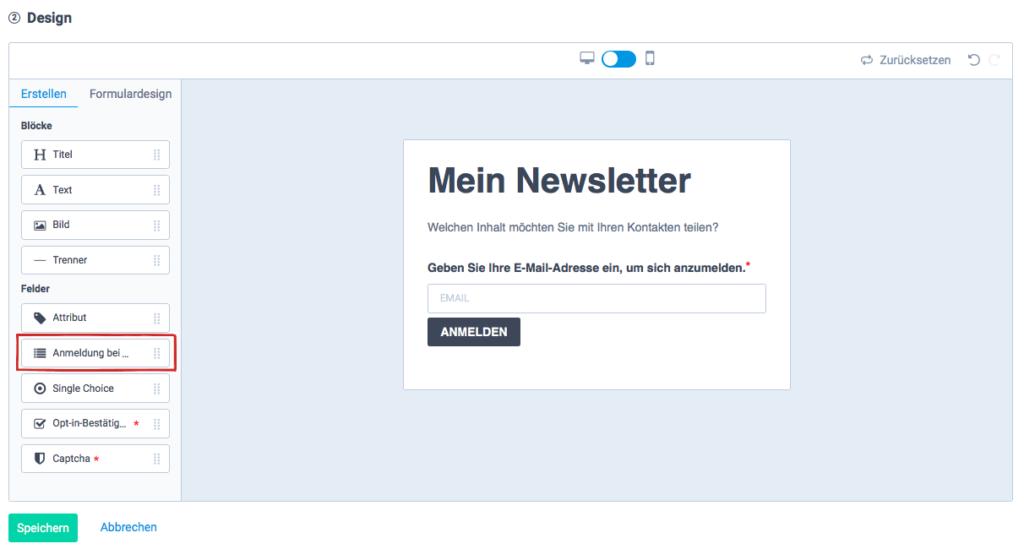 DSGVO-konforme Newsletter-Anmeldung