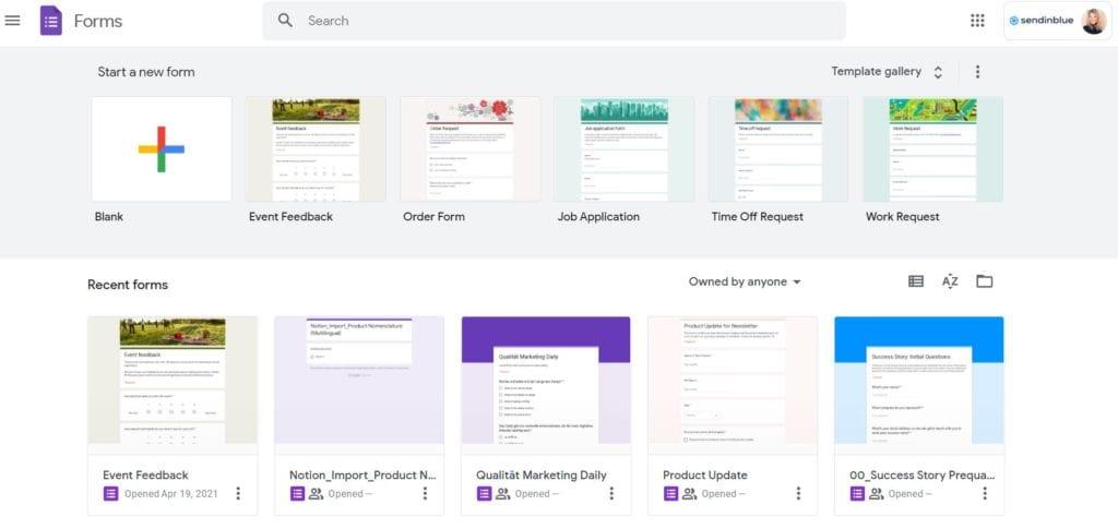 Online-Formulare erstellen mit Google Forms