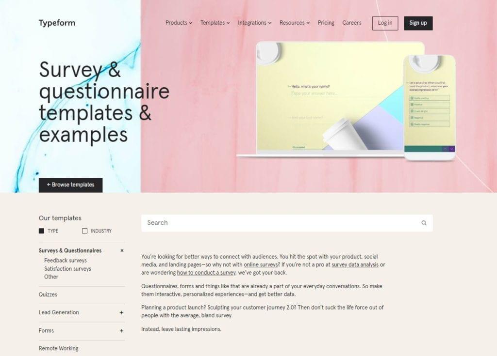 Online-Formulare erstellen mit Typeform